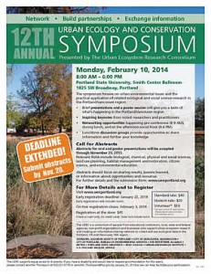 2014 Urban Ecology and Conservation Symposium